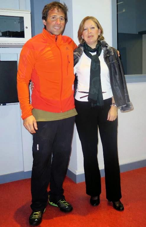Alex Txikon y Begoña Romo.
