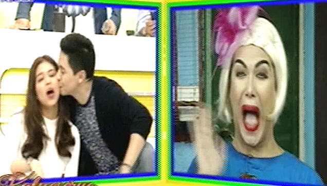 Maine Mendoza Had a Surprise Solid Kiss from Alden Richards