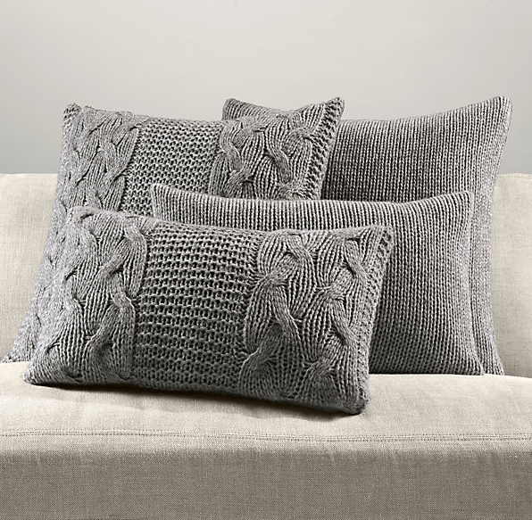 Decorative Pillows Restoration Hardware : Cozying Up Your Home with Cable Knit Decor Driven by Decor
