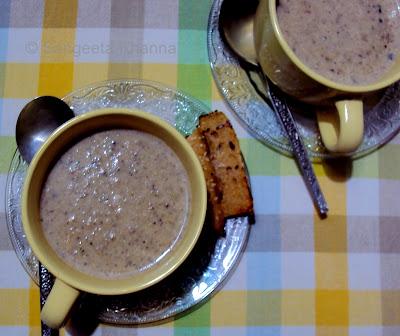 Mushrooms and Potato soup....comforting and versatile...