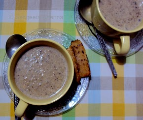 Mushrooms and Potato soup....comforting and versatile...