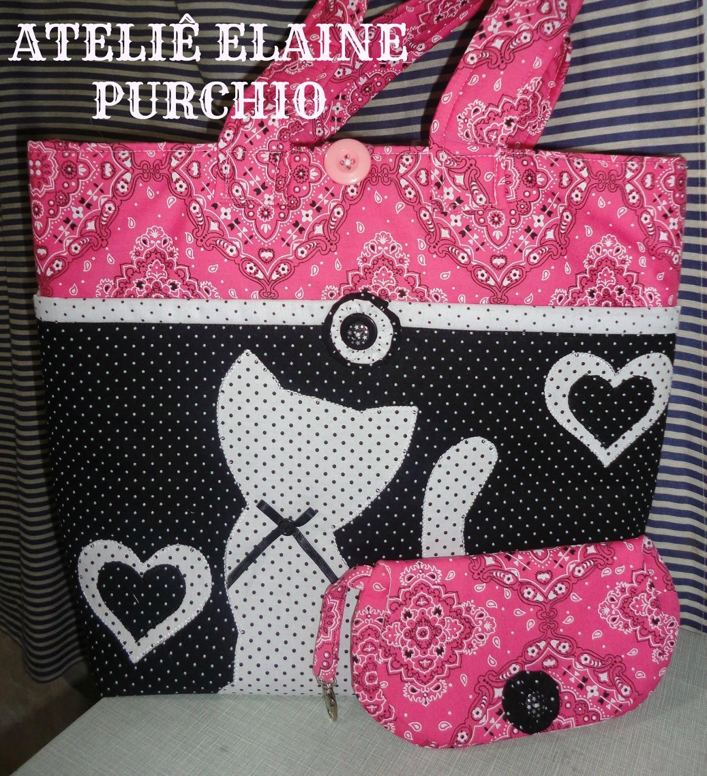 Bolsa De Tecido Forrada : Elaine purchio bolsa lunch bag de tecido