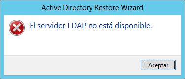 Error LDAP