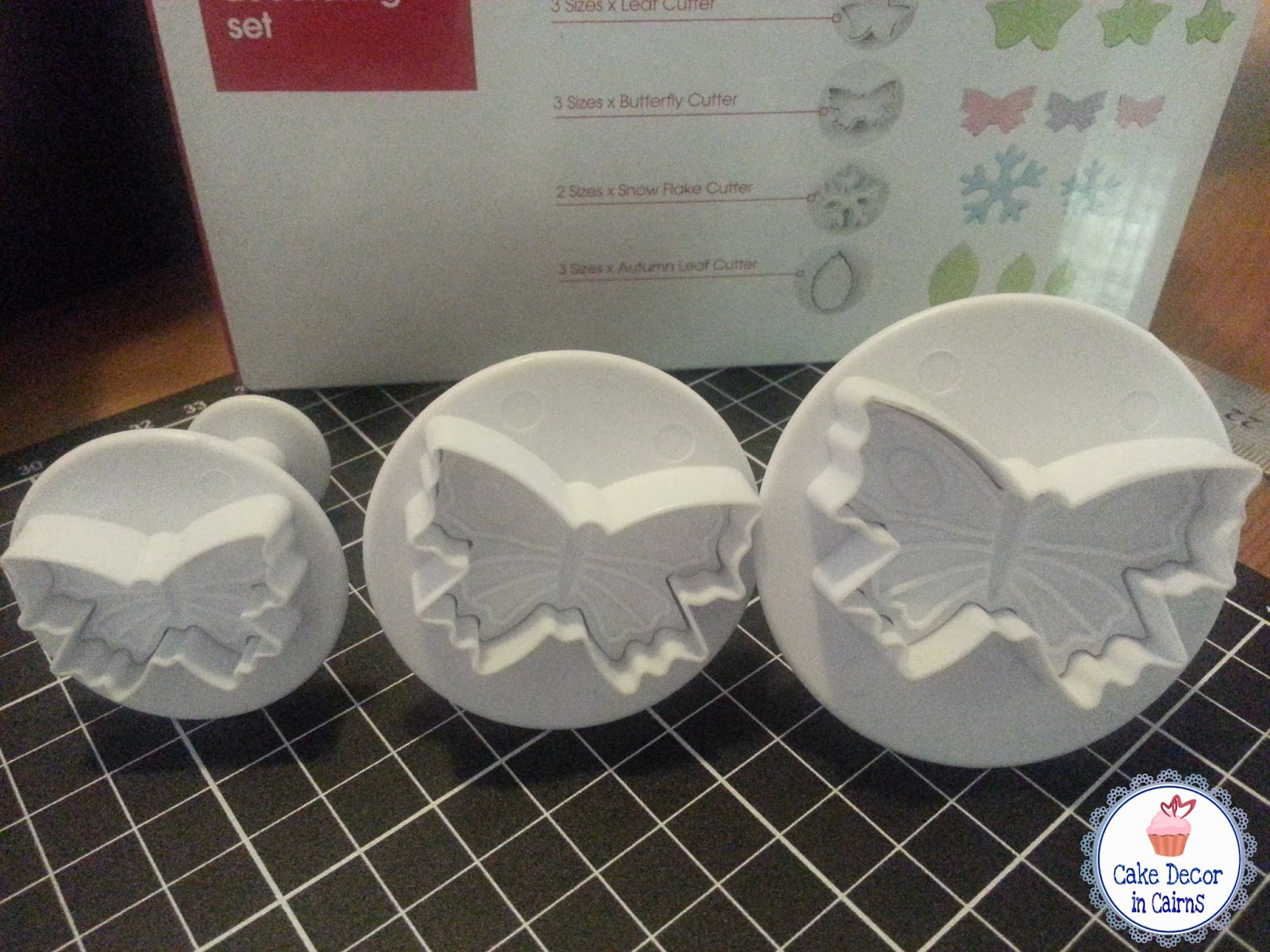Butterfly Fondant Plunger Cookie cutters bought at Kmart