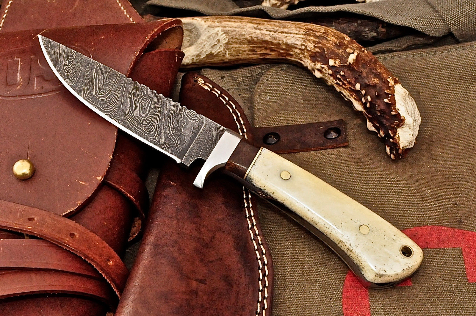 Knife Store Cfk Usa Custom Handmade Damascus Camel Bone