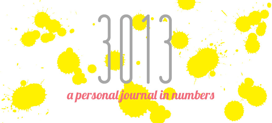 3013, a personal journal in numbers