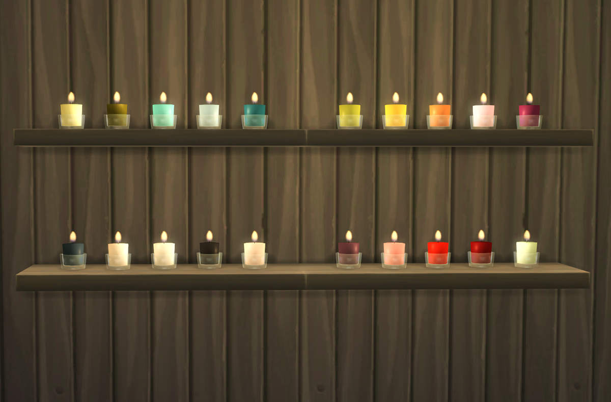 My Sims 4 Blog Glass Candles By OmorfiMera