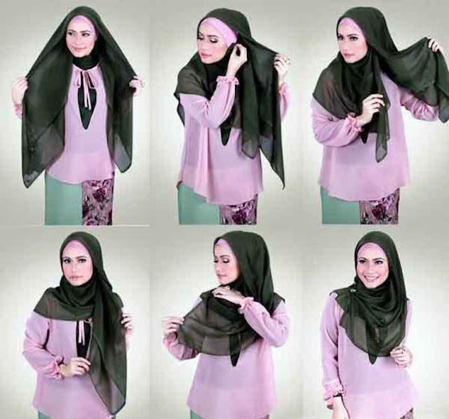 Cara Hijab Segi Empat Polos Yang Sederhana