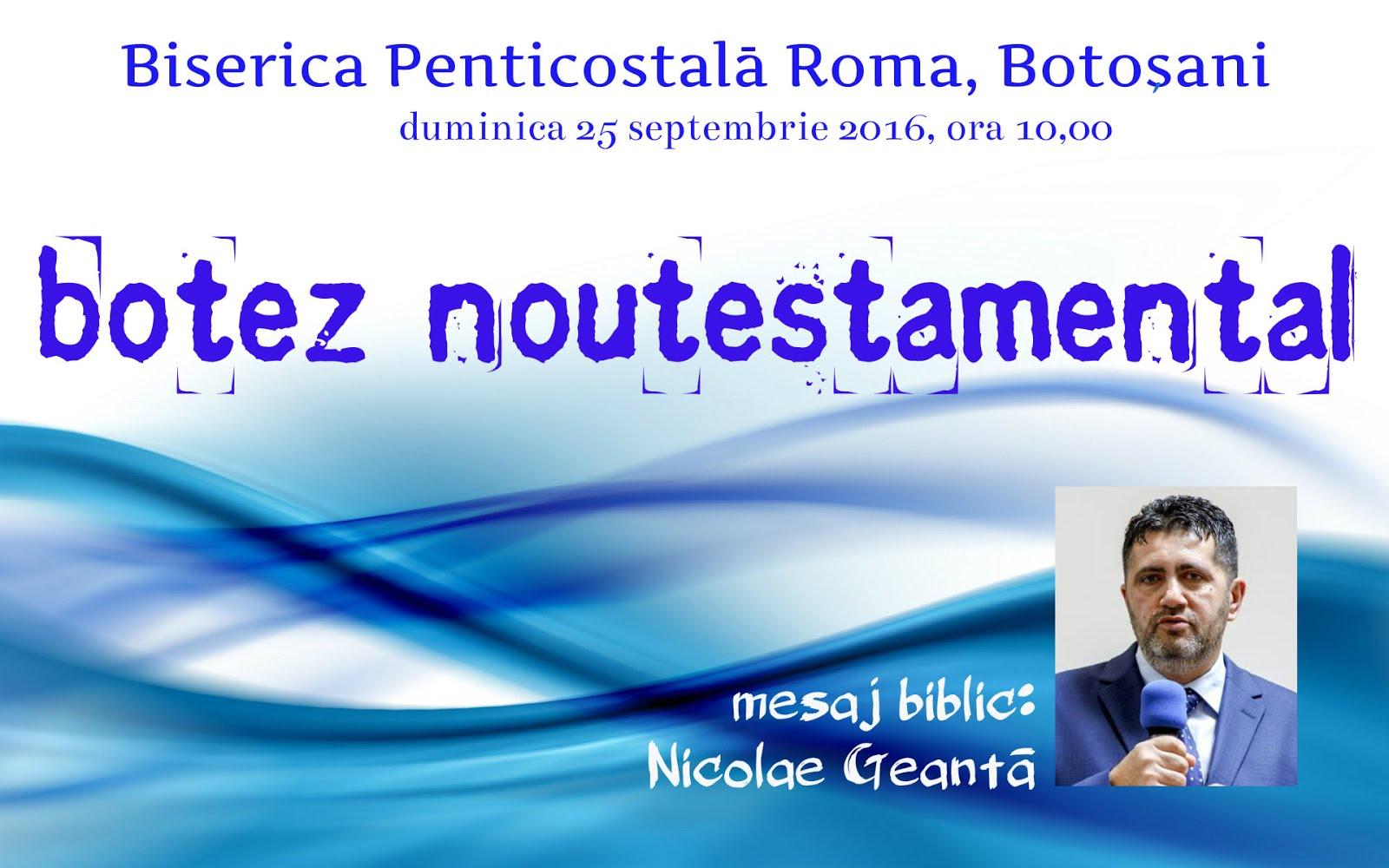 Nicolae Geantă la... Roma, Botoşani