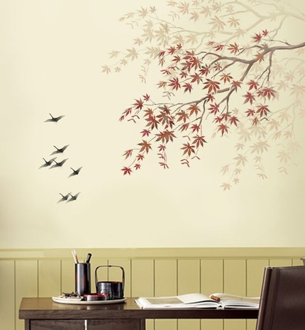 living room interior design stencil for wall painting