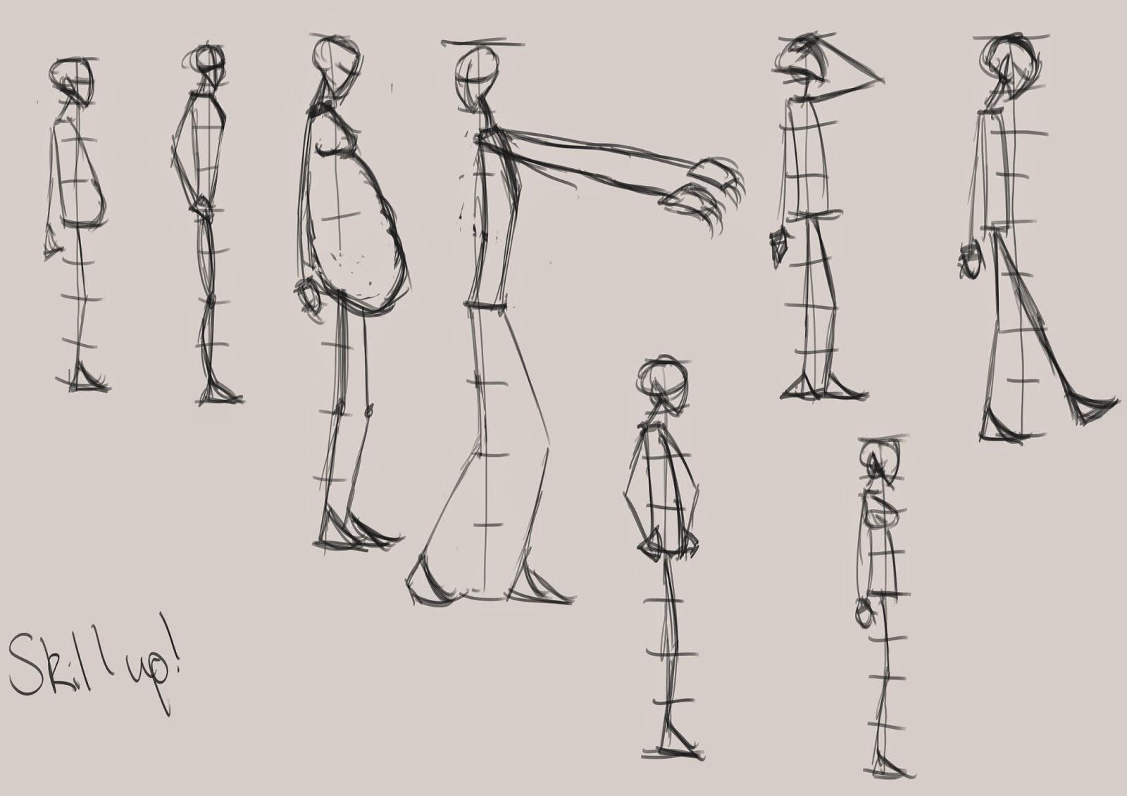 The Line Art Challenge : Max s figure drawing challenge
