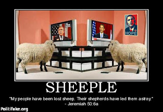 Sheeple meme Shepherds have led them astray republicans and democrats obama bush cnn fox news