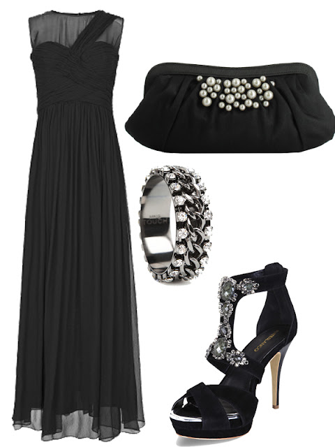 total black look de boda