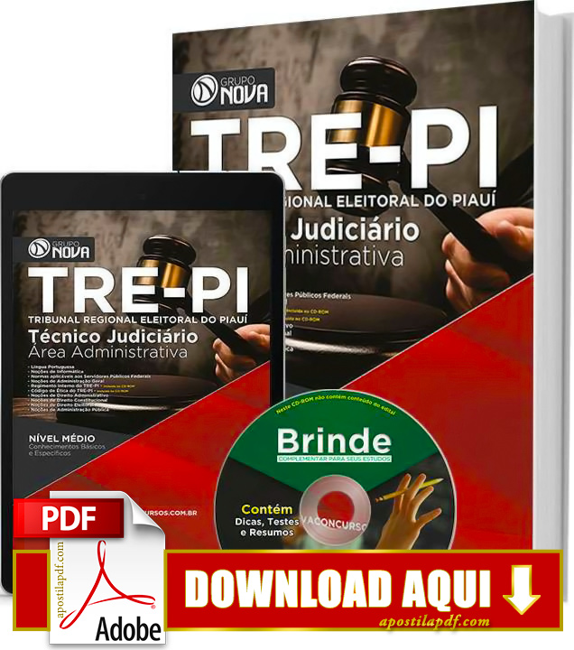 Apostila TRE PI 2015 Técnico Judiciário Impressa PDF Download Grátis