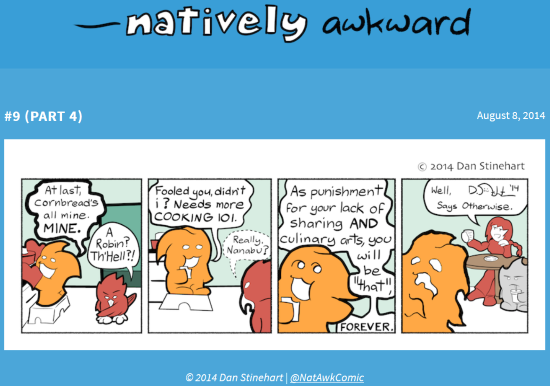 http://nativelyawkwardcomic.com/comic/9/