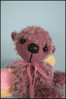 miniature bear, mohair bear, bearsbytracey, little bear, collectable bear