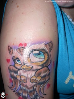 Owl Tattoo on Arms