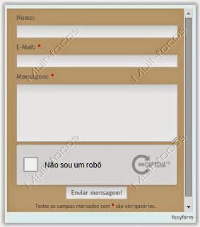 Formulário de contato