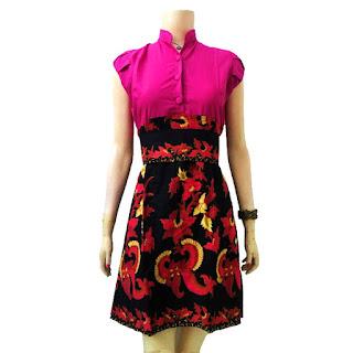 Foto Baju Batik Dress Panjang Modern
