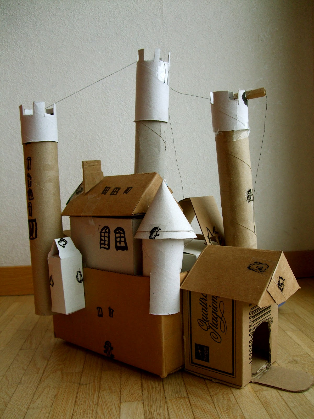 Acorn pies build a cardboard castle for Castle made out of cardboard boxes