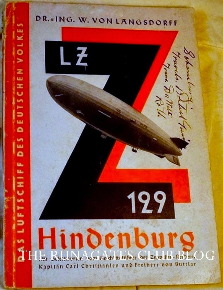 Passenger handbook, Zeppelin D-LZ129, the HINDENBURG