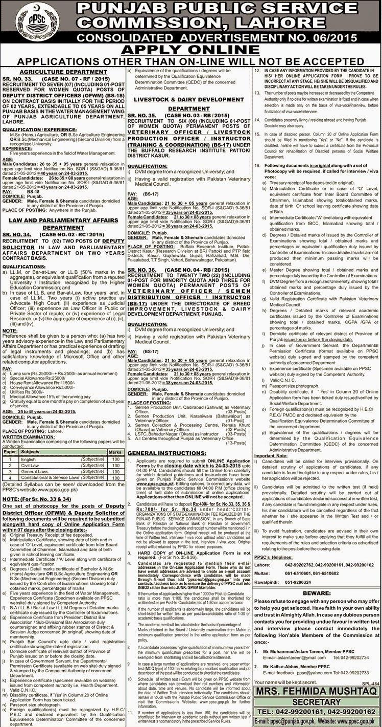 PPSC Jobs in Pakistan