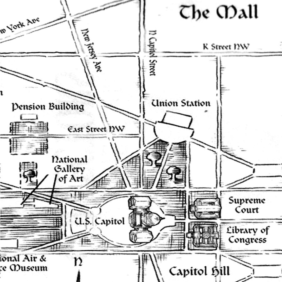 Unlocking The Secrets Of Washington - Washington dc map conspiracy