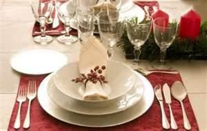 vestir tu mesa para la cena navideña