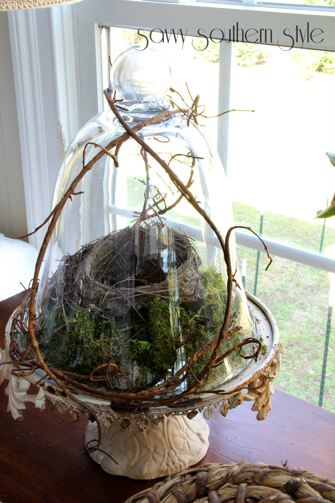 Savvy southern style a spring vignette in the sunroom for The nest home decor