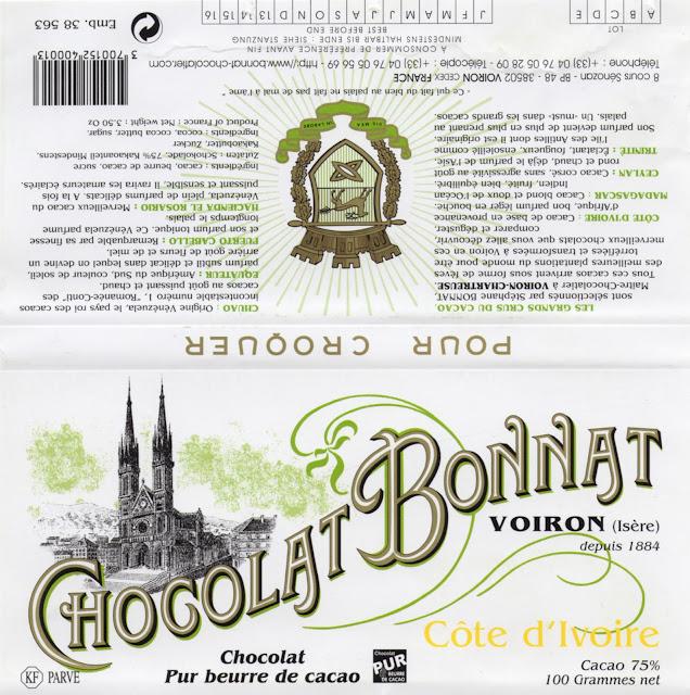 tablette de chocolat noir dégustation bonnat noir côte d'ivoire