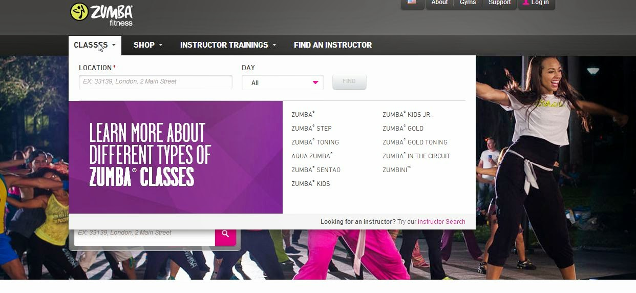 How to find local Zumba classes online