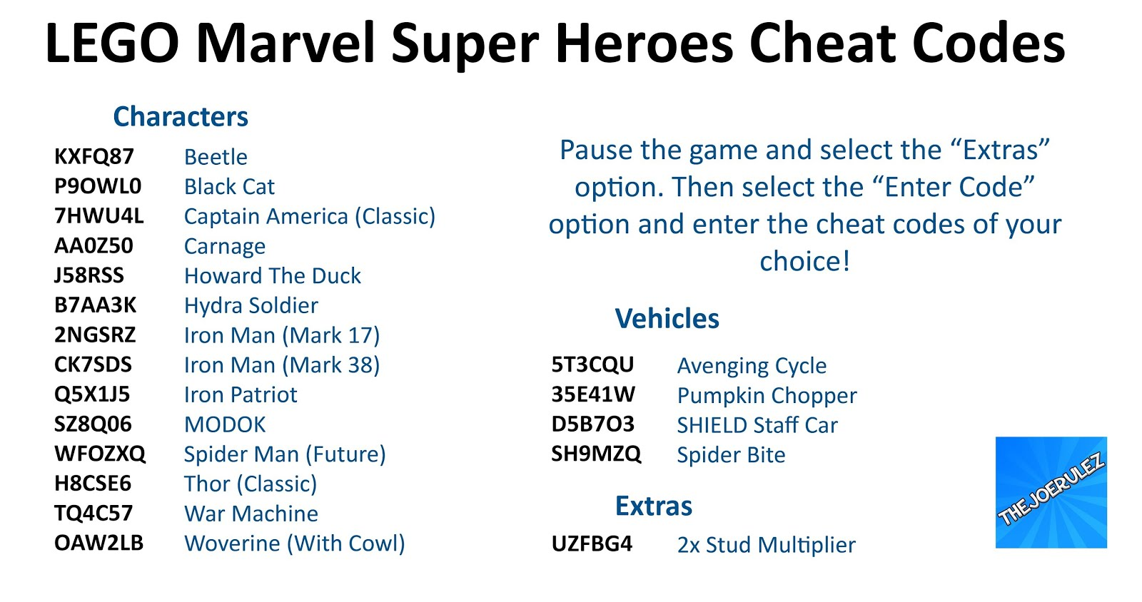 marvel lego cheats ps4