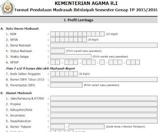 Form EMIS Tingkat RA, MI, MTs, MA, Pondok Pesantren dan Bidang PAI & Jadwal Upload Semester Genap Tahun 2015/2016