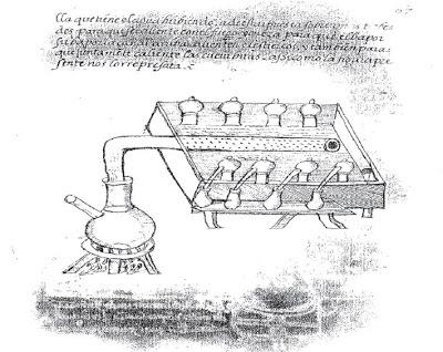 Destilación de perfumes realizada en estiércol. Biblioteca Nacional de España . Lacasamundo