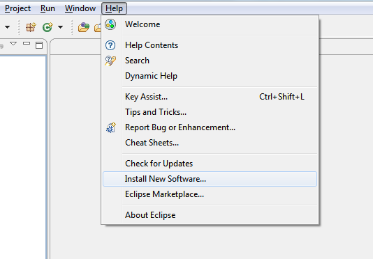 Eclipse Install new Softwares