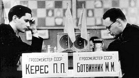 la rencontre entre Paul Kérès vs Mikhail Botvinnik, 1947