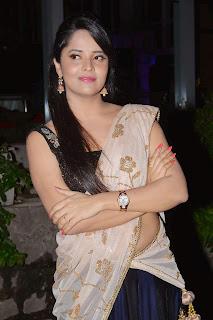 Anasuya Looks Lovely in Cute Half Saree at Mosagllaku Mosagadu Movie Aduio Launch
