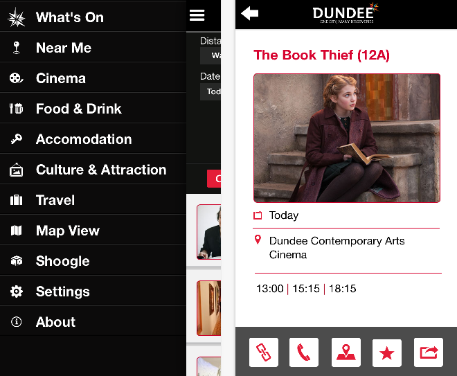 Dundee App launched February 2014 - Screenshots