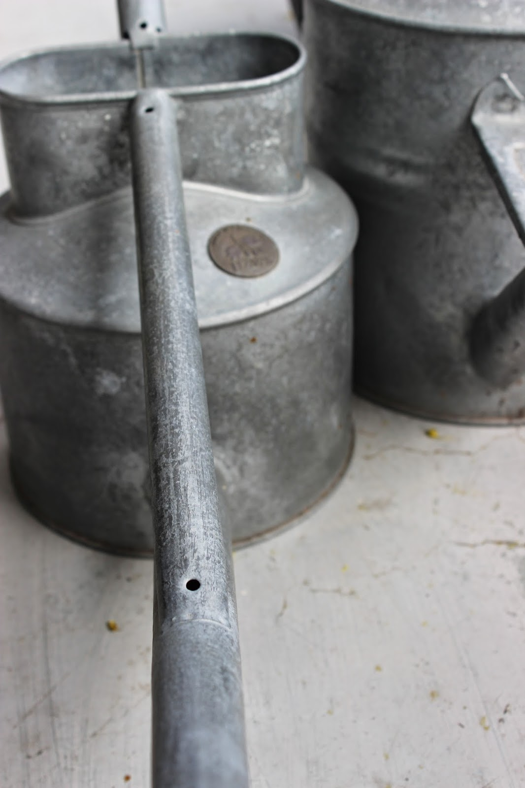 vattenkannor i zink