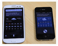 Galaxy S3 and iPhone 4S - S voice and Siri