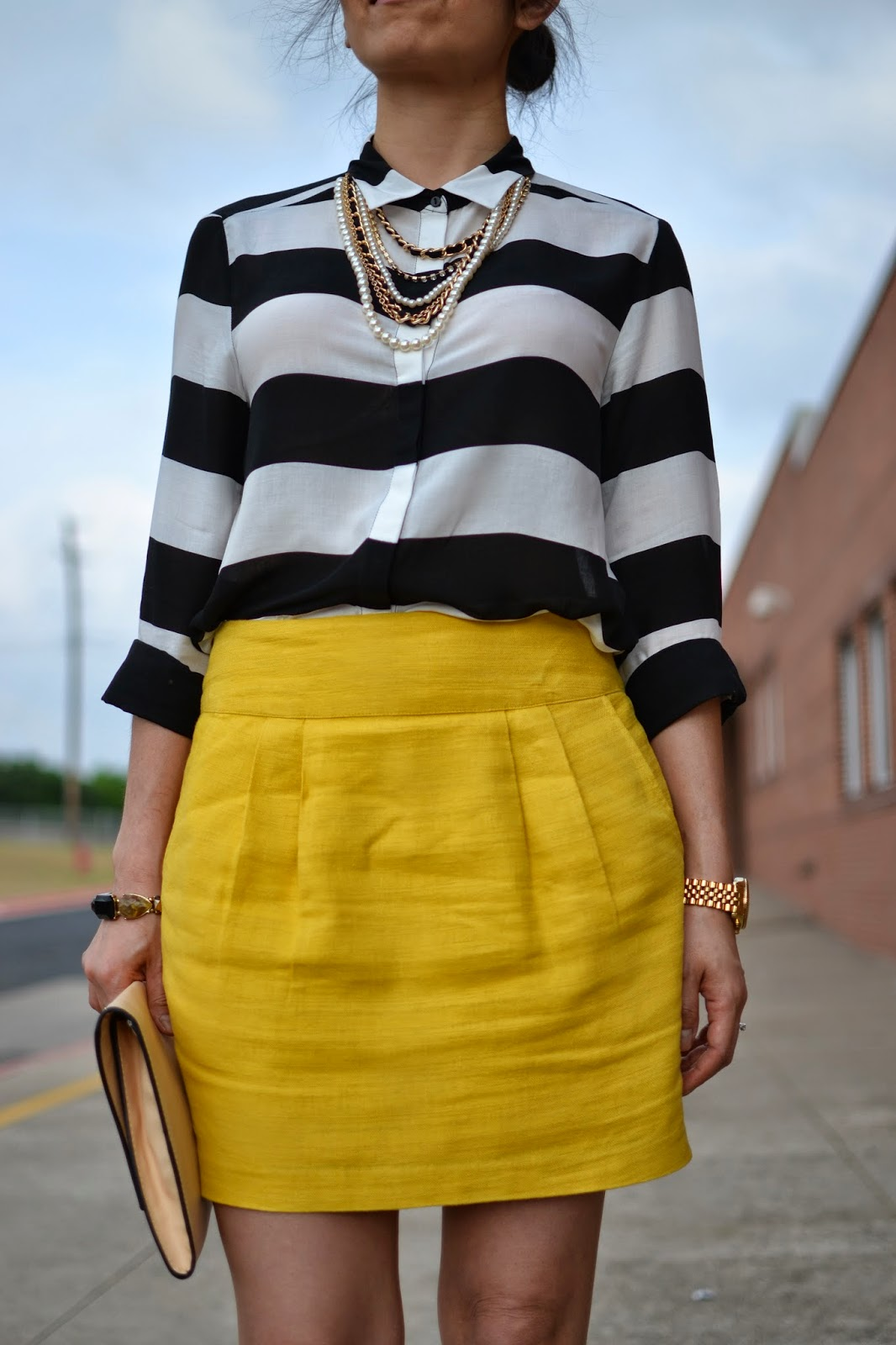Style and Cappuccino : Bumble bee: Black & White Striped Blouse   ...