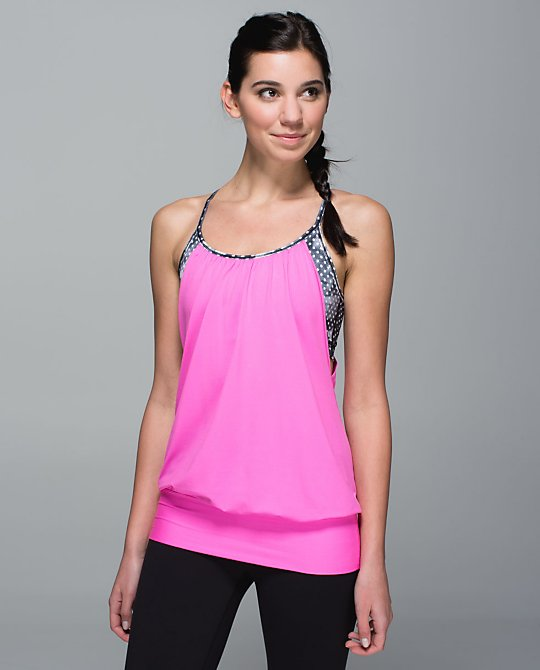 no limit tank dottie dream pow pink lululemon
