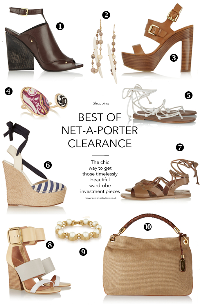 Best picks from Net-a-Porter clearance sale / designer shoes / Tomas Maier, Michael Kors, Gucci, Maiyet / via fashioned by love british fashion blog