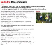 Reportage om trädgården i Länstdningen juli 2011