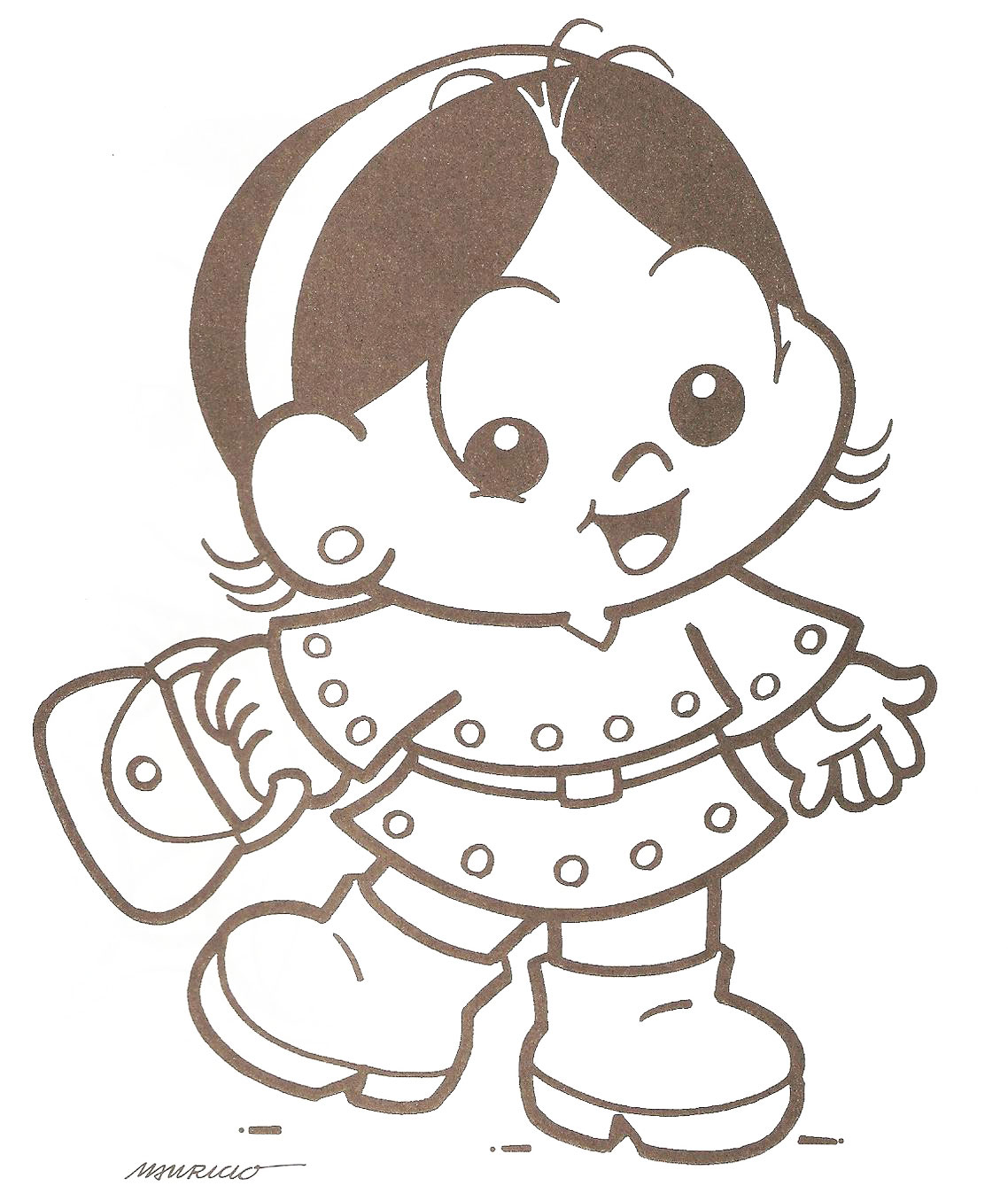 Desenho Da Magali Beb   Para Imprimir E Colorir