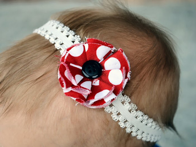 Simple Baby Head Band Flower How to