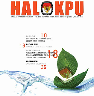majalah KPU Kota Surabaya HALOKPU, cecep husni mubarok