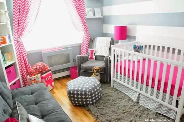 D co chambre b b fille gris rose b b et d coration for Decoration chambre bebe fille rose et gris