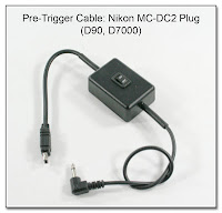 Pre-Trigger Cable: Nikon MC-DC2 Plug for D7000, D90