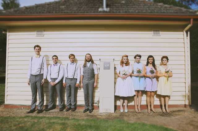 melbourne bridal party vintage portrait